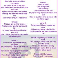 Printable Dance with My Father by Jessica Sanchez Lyrics - Printable Sheet Music - Free Printable Music