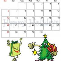 Printable December 2009 Happy Holidays Calendar - Printable Monthly Calendars - Free Printable Calendars