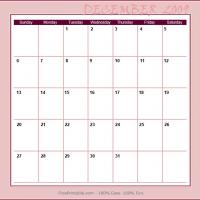 Printable December 2009 Planner Calendar - Printable Monthly Calendars - Free Printable Calendars