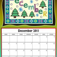 Printable December 2011 Colorful Designed Calendar - Printable Monthly Calendars - Free Printable Calendars