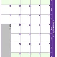 Printable December 2013 Planner Calendar - Printable Monthly Calendars - Free Printable Calendars