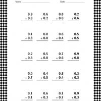 Printable Decimal Addition Quiz - Printable Classroom Lessons - Free Printable Lessons