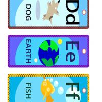 Printable DEF Lesson Bookmarks - Printable Bookmarks - Free Printable Crafts