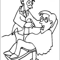 Dentist 2 Coloring Sheet