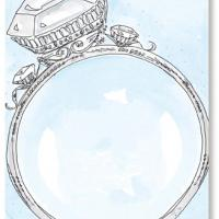Diamong Ring Card Invitation