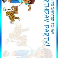Printable Diego Birthday Party - Printable Birthday Invitation Cards - Free Printable Invitations