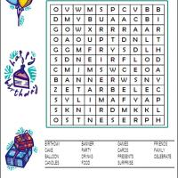 Difficult Birthday Word Search