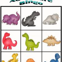 Printable Dino Adventure Bingo 10 - Printable Bingo - Free Printable Games