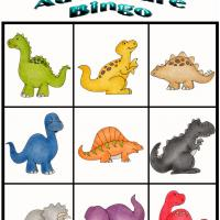 Printable Dino Adventure Bingo 3 - Printable Bingo - Free Printable Games