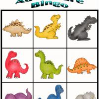 Printable Dino Adventure Bingo 4 - Printable Bingo - Free Printable Games