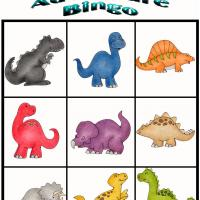 Printable Dino Adventure Bingo 6 - Printable Bingo - Free Printable Games
