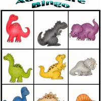 Printable Dino Adventure Bingo 9 - Printable Bingo - Free Printable Games