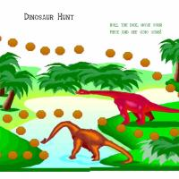 Printable Dino Board Game - Printable Board Games - Free Printable Games