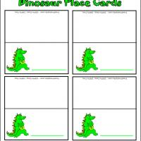 Printable Dino Party Place Cards - Printable Place Cards - Free Printable Cards
