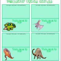 Printable Dino Place Cards - Printable Place Cards - Free Printable Cards
