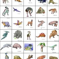 Dinosaur Bingo Tiles 1