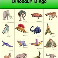 Dinosaur Bingo 1
