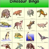 Dinosaur Bingo 4