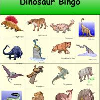Dinosaur Bingo 6