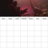 Dinosaur Blank Calendar