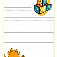 Printable Dinosaur Stationary - Printable Stationary - Free Printable Activities
