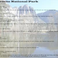 Directions To Yosemite National Park