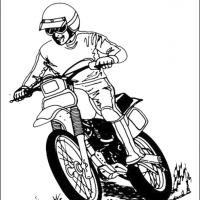 Dirtbike Coloring Sheet