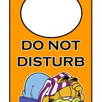 Do Not Disturb Garfield Door Hanger