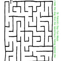 Printable Dog Finding the Leprechaun - Printable Mazes - Free Printable Games