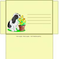 Printable Doggies Envelope - Printable Card Maker - Free Printable Cards