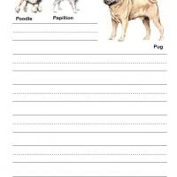 Dogs Kids Writing Paper