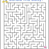 Printable Donald Finding Daisy - Printable Mazes - Free Printable Games