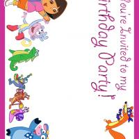 Printable Dora Birthday Party - Printable Birthday Invitation Cards - Free Printable Invitations