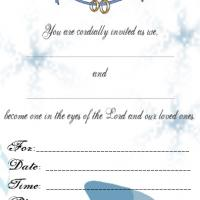 Printable Dove Wedding Invitation - Printable Wedding Invitation Cards - Free Printable Invitations
