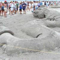 Dragon Sand Sculpture