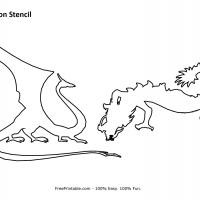 Printable Dragon Stencil - Printable Stencils - Free Printable Crafts