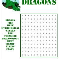 Printable Dragons Word Search - Printable Word Search - Free Printable Games