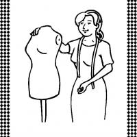 Dressmaker Flash Card