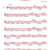 Printable Droplets By Mark Wesling - Printable Guitar Music - Free Printable Music