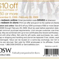 DSW Save $10 on Purchases of $50 and Up