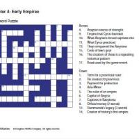 Early Empires Crossword
