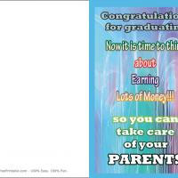 Printable Earn Lots Of Money - Printable Graduation Cards - Free Printable Cards