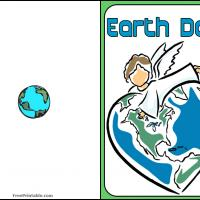 Printable Earth Day Angel - Printable Greeting Cards - Free Printable Cards