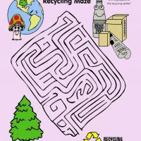 Printable Earth Day Recycling Maze - Printable Mazes - Free Printable Games