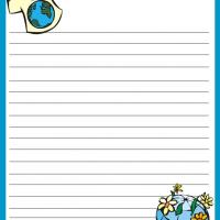 Printable Earth Day Stationary - Printable Stationary - Free Printable Activities
