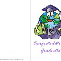 Printable Earth In Graduates Gown - Printable Graduation Cards - Free Printable Cards