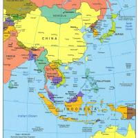 Printable East Asia Political Map - Printable Maps - Misc Printables