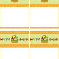 Printable Easter Basket and Greeting Gift Cards - Printable Gift Cards - Free Printable Cards