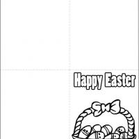 Printable Easter Basket Card - Printable Easter Cards - Free Printable Cards