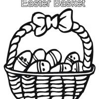 Printable Easter Basket Coloring Sheet - Printable Coloring Sheets - Free Printable Coloring Pages